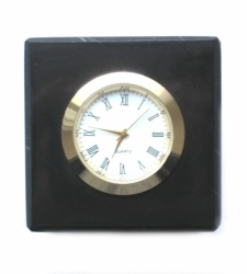 Shungit cube with clock