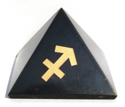 Shungit pyramid with sign of the Archer
