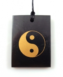 Shungit pendant yin-yang rectangle