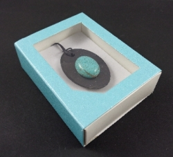 Blue box with transparent lid