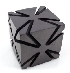 Shungit polished cut cube 4 cm