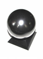Shungit sphere polished 10 cm + support FREE