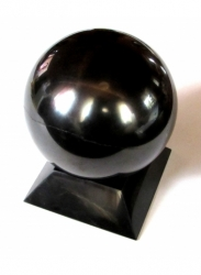Shungit sphere polished 15 cm + support FREE