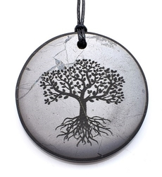 Shungit pendant Tree of Life